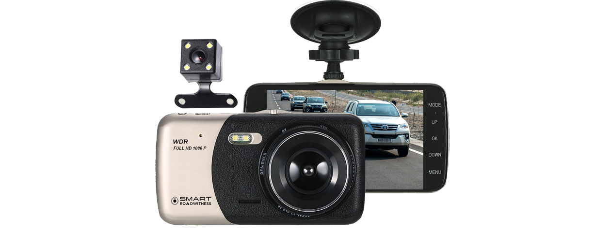 dash cam with full touch screen